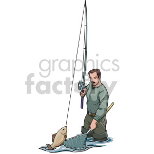 man fishing clipart. Royalty-free image # 168911