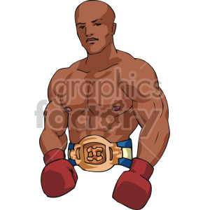boxer clipart. Royalty-free image # 168741