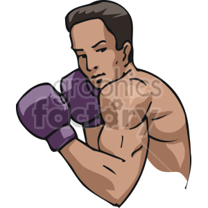 boxer vector clipart. Royalty-free image # 168733