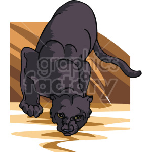 black panther clipart. Royalty-free image # 129280