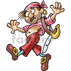 drunk pirate clipart. Commercial use image # 407795