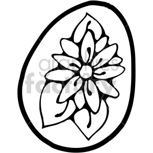 easter egg 001 bw clipart. Royalty-free image # 407852