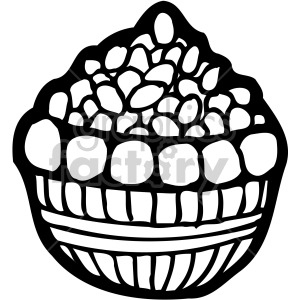 easter basket 001 bw clipart. Royalty-free image # 407883