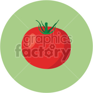 tomato on green circle background clipart. Commercial use image # 407973
