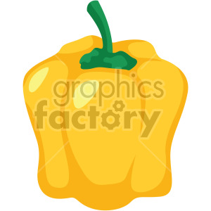 yellow bell pepper clipart. Commercial use image # 407976