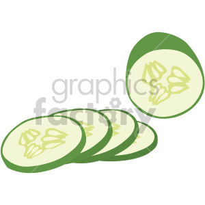 sliced cucumber clipart. Commercial use image # 407986