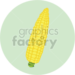 corn on the cob on green circle background clipart. Commercial use image # 407990