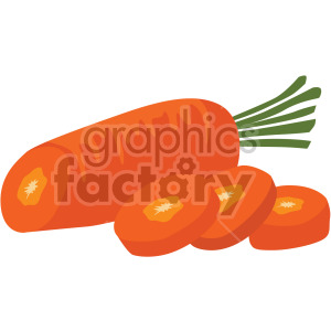 sliced carrot clipart. Commercial use image # 407991