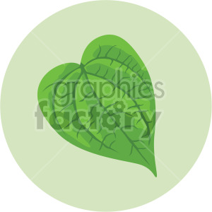 poplar leaf on green circle background clipart. Royalty-free image # 408066