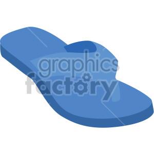 blue flip flop clipart. Royalty-free image # 408129