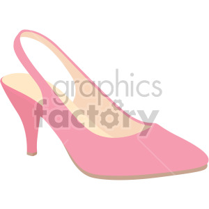 pink slingback shoes clipart. Royalty-free image # 408158