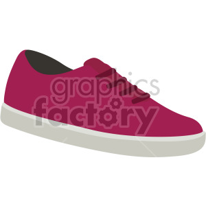 crimson walking sneaker clipart. Royalty-free image # 408166