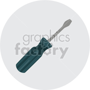 regular screwdriver on circle background clipart. Royalty-free image # 408232