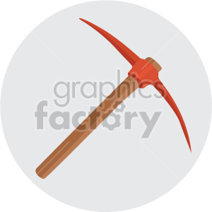 pickaxe on circle background clipart. Royalty-free image # 408233