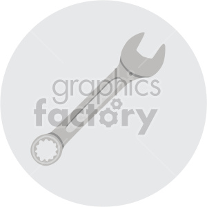 wrench on gray circle background clipart. Commercial use image # 408282