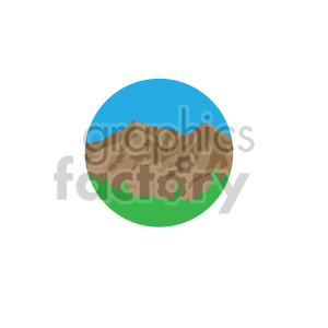 mountain scene on circle design clipart. Commercial use image # 408315