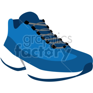 blue running shoe clipart. Royalty-free image # 408338