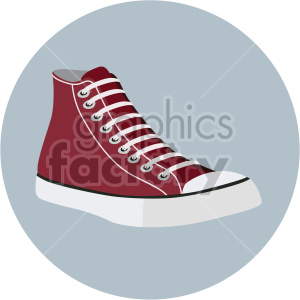 vintage basketball shoe on circle design clipart. Commercial use image # 408352