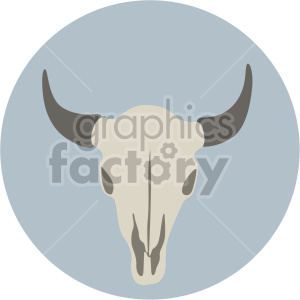 cattle skull on circle background clipart. Commercial use image # 408362
