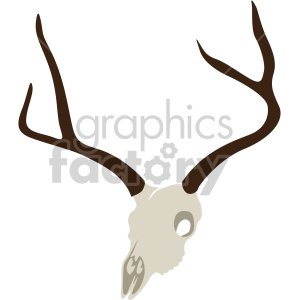 elk skull clipart. Commercial use image # 408365