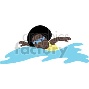 african american girl swimming clipart. Royalty-free image # 408384