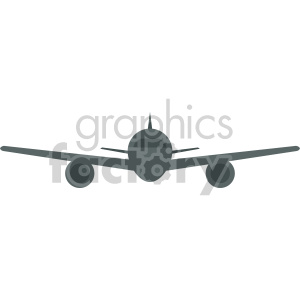 front view airplane vector clipart. Commercial use image # 408441