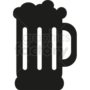 black white glass of beer icon clipart. Royalty-free image # 408468