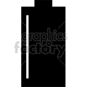 battery outline clipart. Royalty-free image # 408481