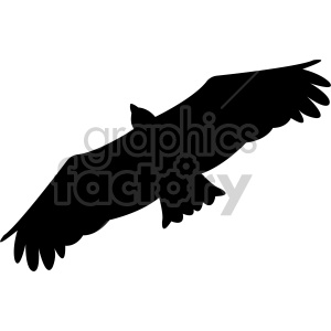 hawk silhouette vector clipart. Royalty-free image # 408488
