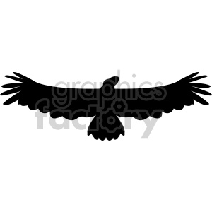 eagle silhouette vector clipart. Royalty-free image # 408491