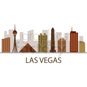 las vegas strip vector clipart. Royalty-free image # 408503