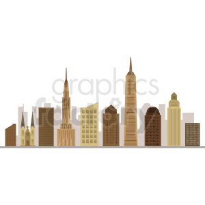 new york city flat vector design no label clipart. Commercial use image # 408516