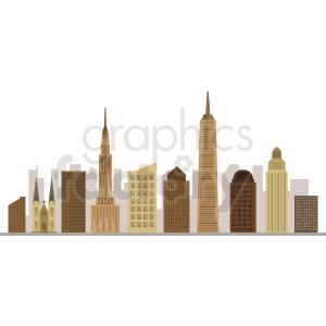 new york city flat vector design no label