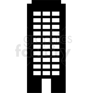 black city building icon no background clipart. Royalty-free image # 408541