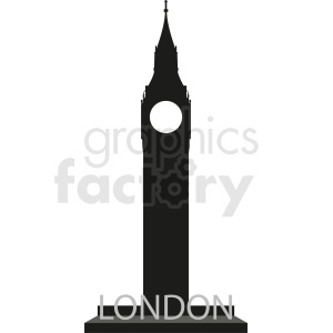 big ben london vector no background clipart. Commercial use image # 408573
