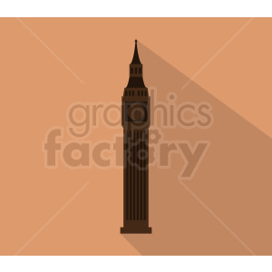 big ben building vector on peach background clipart. Royalty-free image # 408593
