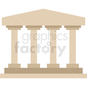 pillars vector icon clipart. Royalty-free image # 408613