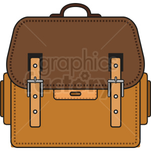 leather bag vector icon clipart. Royalty-free image # 408746