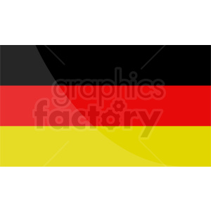germany flag design v2 clipart. Royalty-free image # 408751