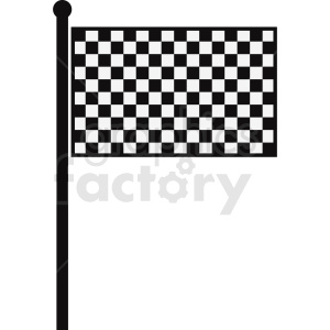 checkered flag clipart. Royalty-free image # 408816
