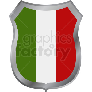 italy flag shield design clipart. Commercial use image # 408826