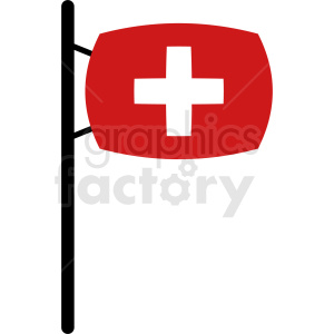 first aid flag design clipart. Royalty-free image # 408833
