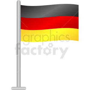 germany flag vector icon clipart. Commercial use image # 408846