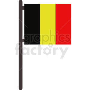 flag of belgium no background icon clipart. Royalty-free image # 408851