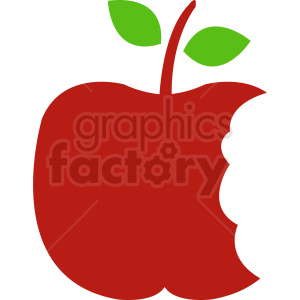 red cartoon apple clipart. Commercial use image # 408893
