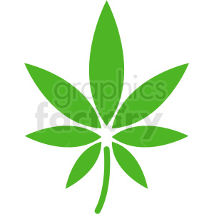vector marijuana leaf design clipart. Royalty-free image # 408931