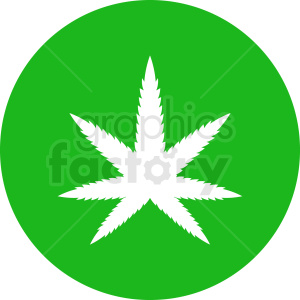 green vector marijuana leaf design clipart. Royalty-free image # 408933