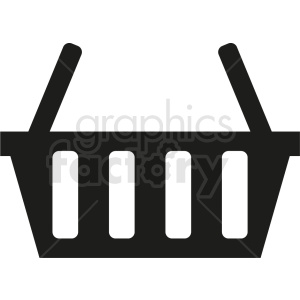 black vector picnic basket icon design no background clipart. Royalty-free image # 408966