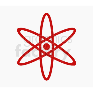 red atom design on gray background clipart. Royalty-free image # 409051