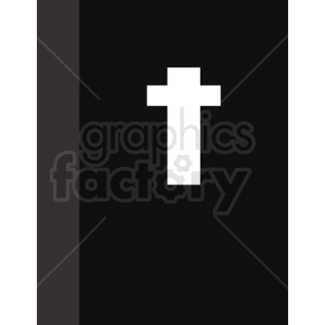 bible with cross clipart. Royalty-free image # 409056